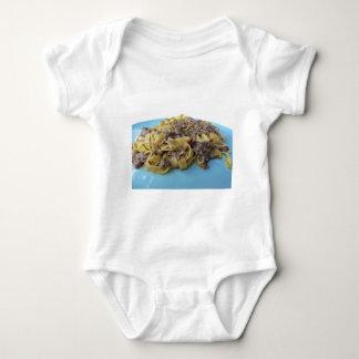 Italian fresh fettuccine or tagliatelle pasta baby bodysuit