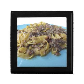 Italian fresh fettuccine or tagliatelle pasta gift box