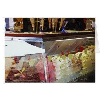 Italian gelato in display case card