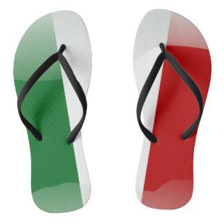 Italian glossy flag thongs