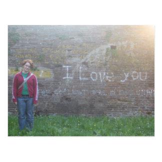 italian graffiti 'i love you.' postcard