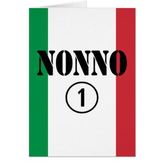 Italian Grandfathers : Nonno Numero Uno Card