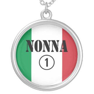 Italian Grandmothers : Nonna Numero Uno Round Pendant Necklace
