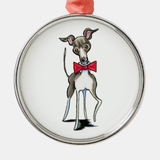 Italian Greyhound Antonio Metal Ornament