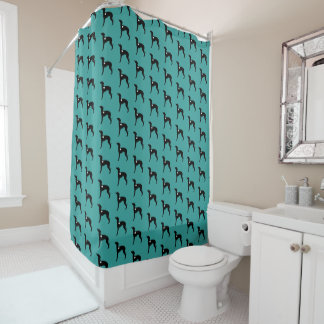 Italian Greyhound Bathroom Shower Curtain Rescue