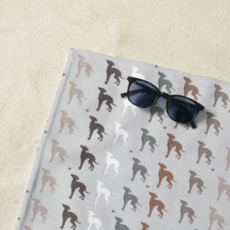 Italian Greyhound Beach Towel Rescue Dog Iggy