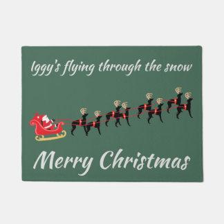 Italian Greyhound Christmas Door Mat