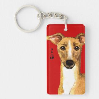 Italian Greyhound Color Block Key Ring