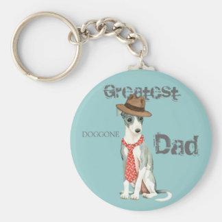 Italian Greyhound Dad Key Ring