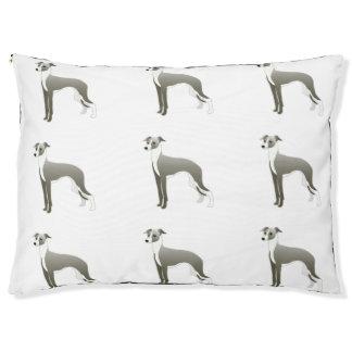 Italian Greyhound Dog Breed Illustration Silhouett Pet Bed