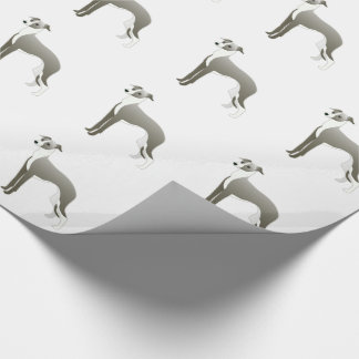 Italian Greyhound Dog Breed Illustration Silhouett Wrapping Paper