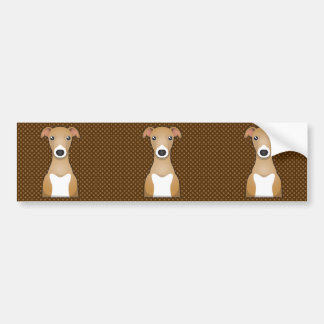 Italian Greyhound Dog Cartoon Paws Bumper Sticker