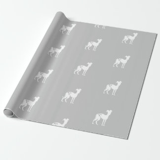 Italian Greyhound Dog Rescue Wrapping Paper Iggy