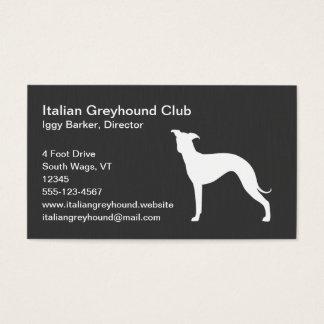 Italian Greyhound Dog Silhouette Business Card