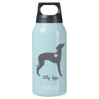 Italian Greyhound Dog Tumbler, Silly Iggy Rescue Insulated Water Bottle