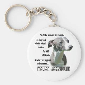 Italian Greyhound FAQ Keychain
