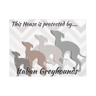Italian Greyhound Front doormat Mat Rescue Decor