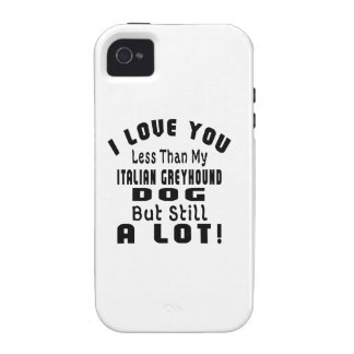 ITALIAN GREYHOUND FUNNY DESIGNS iPhone 4/4S COVER