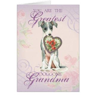 Italian Greyhound Heart Grandma Card
