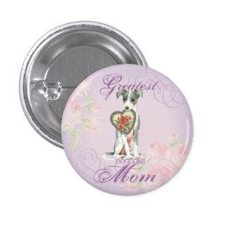 Italian Greyhound Heart Mom 3 Cm Round Badge