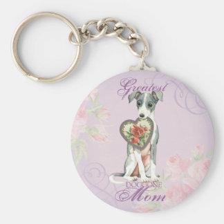 Italian Greyhound Heart Mom Key Ring