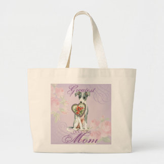 Italian Greyhound Heart Mom Large Tote Bag