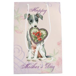 Italian Greyhound Heart Mom Medium Gift Bag