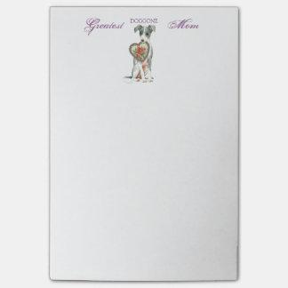 Italian Greyhound Heart Mom Post-it® Notes
