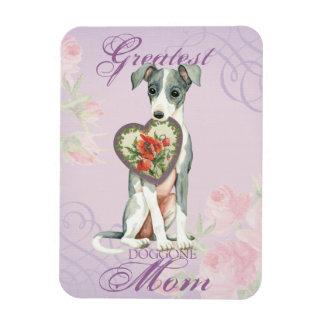 Italian Greyhound Heart Mom Rectangular Photo Magnet