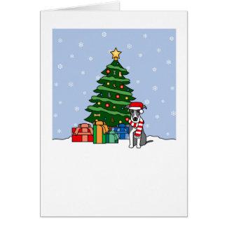 Italian Greyhound Howling Good Christmas Card