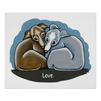 Italian Greyhound Huddle Poster