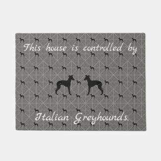 Italian Greyhound Iggy Dog Door Mat