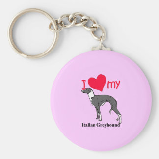 Italian Greyhound (Iggy) Key Ring