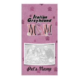 Italian Greyhound MOM Photo Card