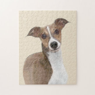 Italian Greyhound Painting - Cute Original Dog Art Jigsaw Puzzle