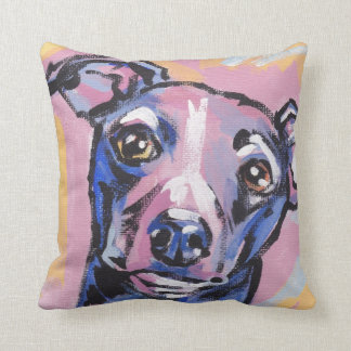 Italian Greyhound Pop Art Pillow
