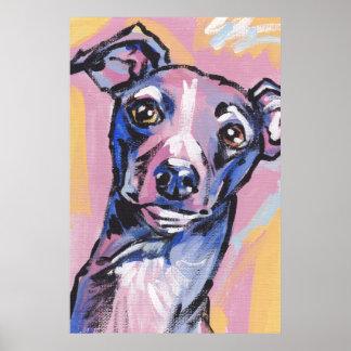Italian Greyhound Pop Art Poster Print