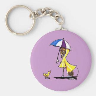 Italian Greyhound Raincoat Key Ring