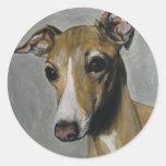 Italian Greyhound Round Stickers
