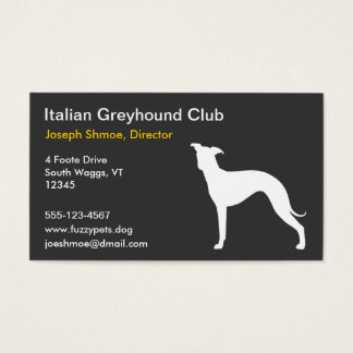Italian Greyhound Silhouette Business Card
