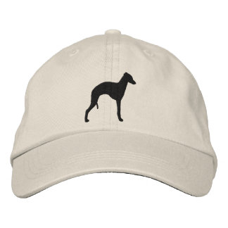 Italian Greyhound Silhouette Embroidered Hat