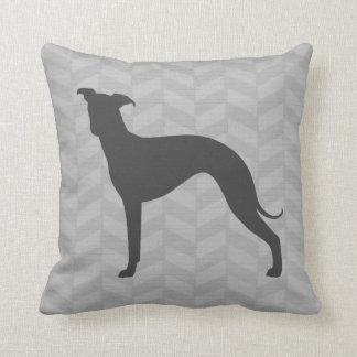 Italian Greyhound Silhouette Throw Pillow