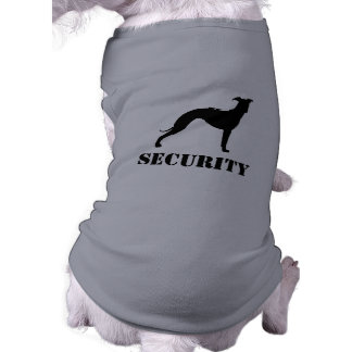 Italian Greyhound Silhouette with Custom Text Sleeveless Dog Shirt