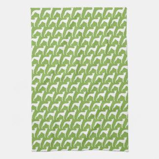 Italian Greyhound Silhouettes Pattern Hand Towel