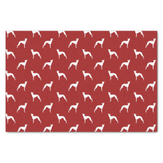 Italian Greyhound Silhouettes Pattern Red Tissue Paper