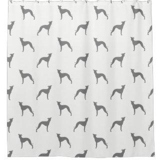 Italian Greyhound Silhouettes Pattern Shower Curtain