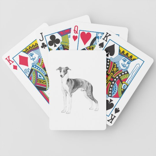 Italian Greyhound Style Bicycle Playing Cards