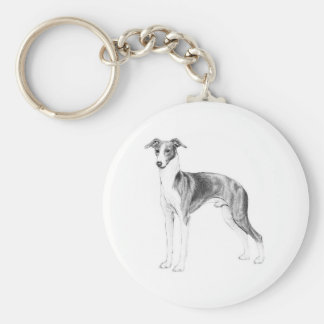 Italian Greyhound Style Key Ring