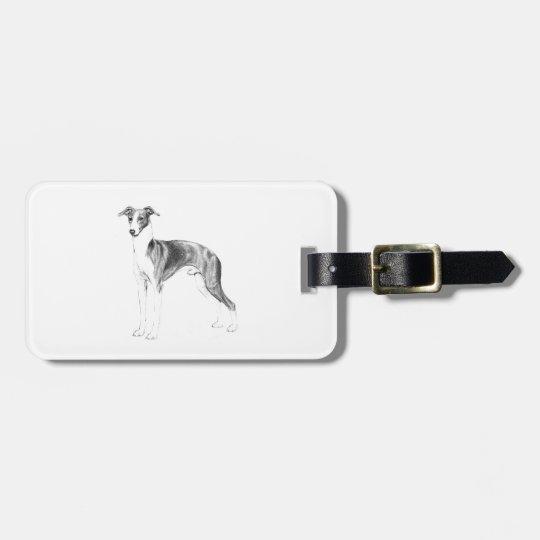 Italian Greyhound Style Luggage Tag