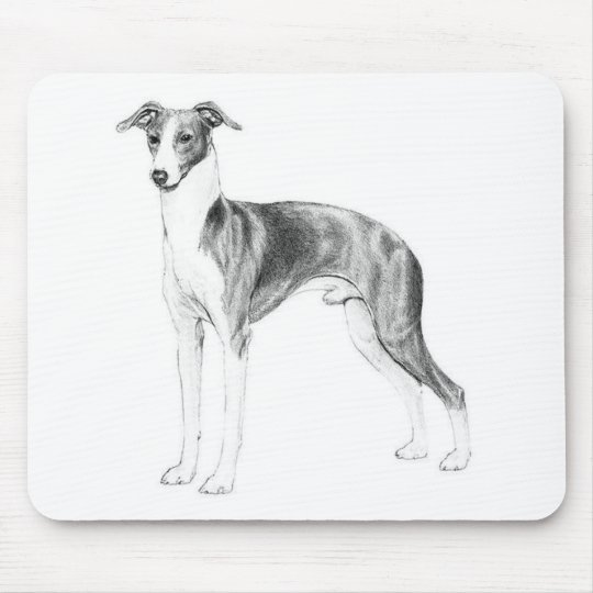 Italian Greyhound Style Mouse Pad